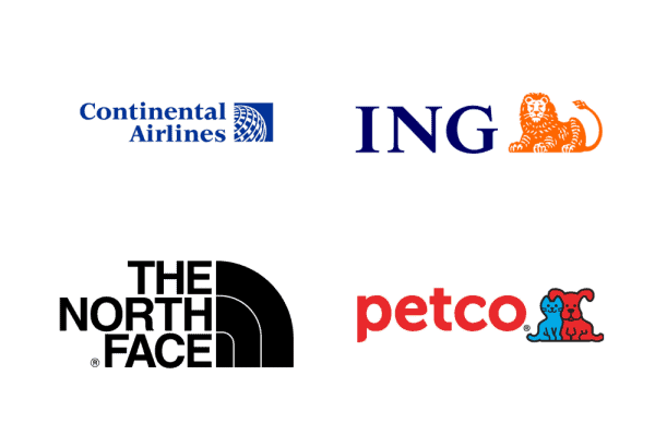 Logos with right-aligned symbols
