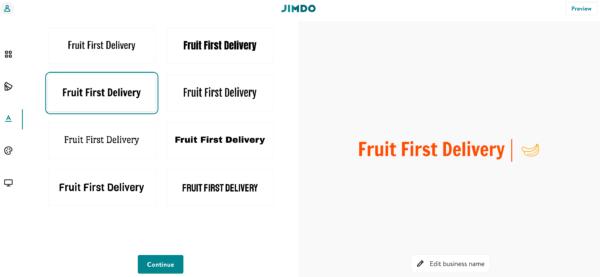 Jimdo free logo maker