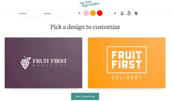 My Free Logo Maker generated logos