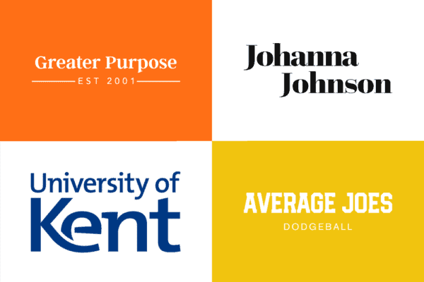 Long company name logos