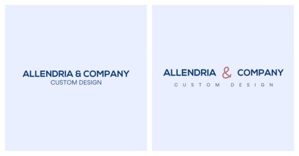 Long company name with slogan