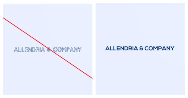 Complex text vs simple logo text