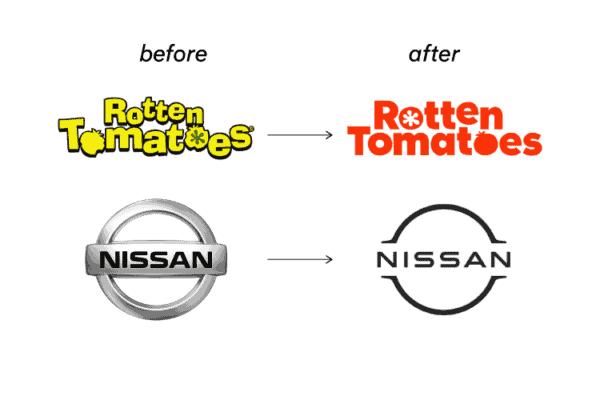 Flattened logo examples