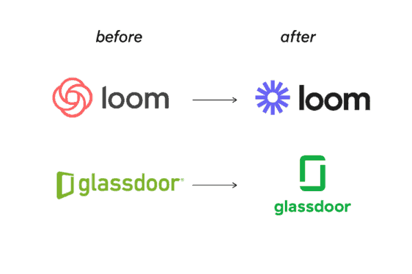 Logos that changed color